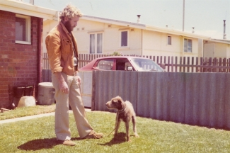 Bob with Sadie 1974